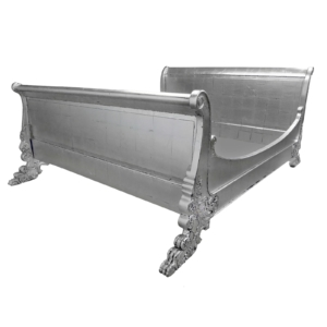 SILVER SLEIGH BED