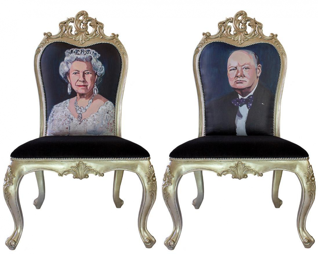 HER MAJESTY THE QUEEN AND WINSTON CHURCHILL