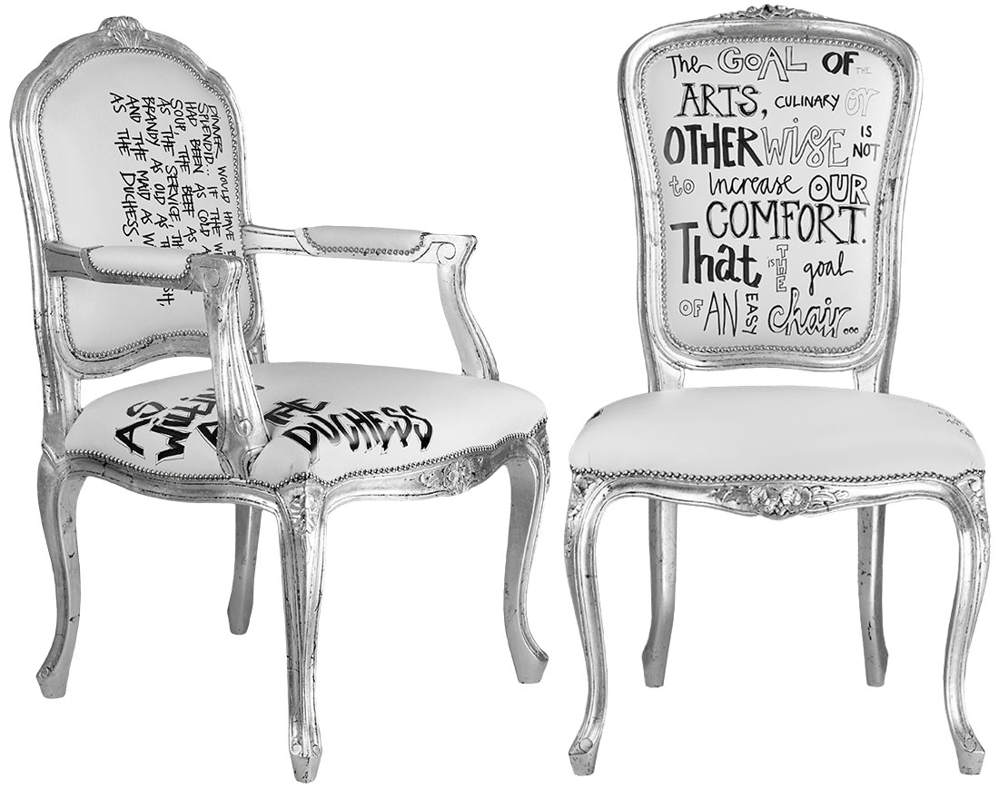 SILVER DINING CHAIRS DUTCHESS & GOAL