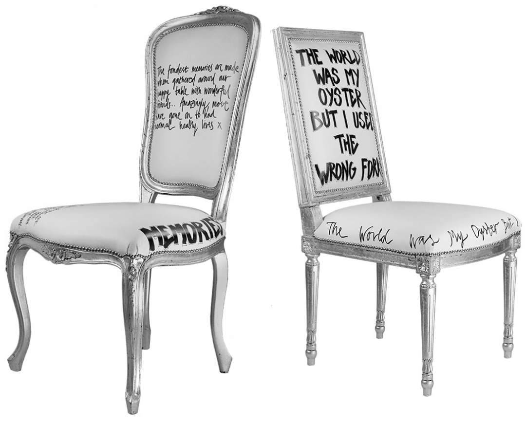 SILVER DINING CHAIRS MEMORIES  & OYSTER