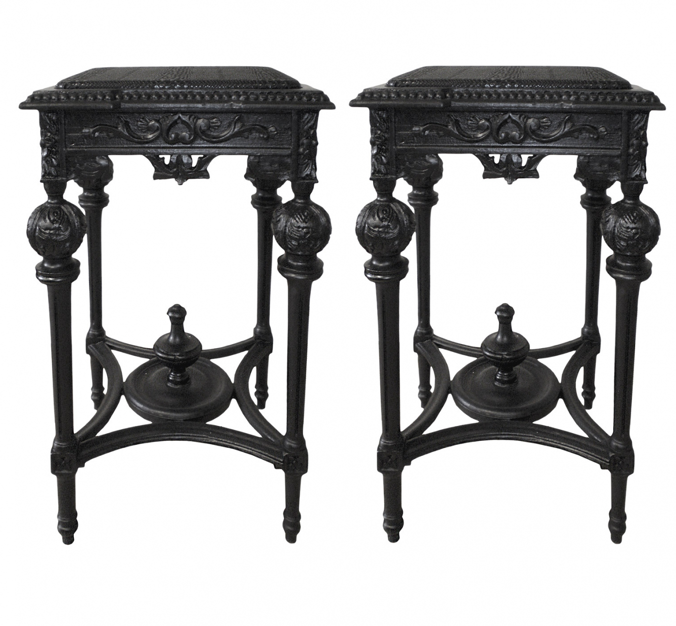 BLACK SNAKE BEDSIDE TABLES