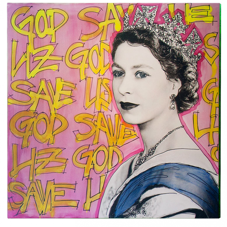 GOD SAVE THE QUEEN ARTWORK