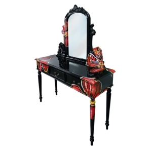 BLACK ORCHIDS DRESSING TABLE