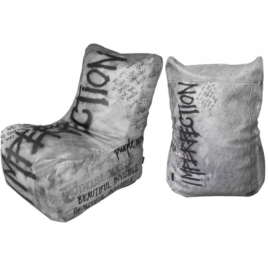 JIMMIE MARTIN IMPERFECTION BEAN BAG GREY